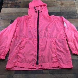 Pink windbreaker large  3 pockets